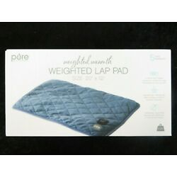 Pure Enrichment 2lb Weighted Lap Pad 3 Heat Settings, Weighted Pressure.20''X12''