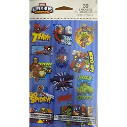 Marvel Super Hero Stickers New Sealed Free shipping Sale