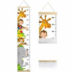 Animals Growth Chart for Kids, Baby Height Chart, Canvas Height Measuring Rulers