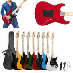 Burning Fire 22 Frets Basswood Beginner Electric Guitar w/ Accessories