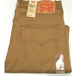 NWT MEN'S LEVI S 541- 0151 ATHLETIC TAPER SET AT WAIST STRETCH BROWN JEANS PANT