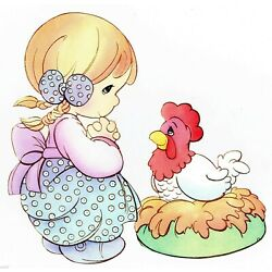 chicken Precious moments wall safe sticker farm border cut out 5.5 to 8.5 inch
