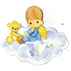 boy cloud Precious moments wall decal prepasted border cut out 5.5 inch