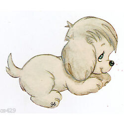 pets dog Precious moments wall sticker peel & stick border cut out 3 inch