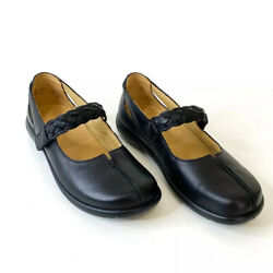 Hotter Shake Touch Fastening Comfort Mary Jane Black Leather Shoes, Sz 7.5 NWOT