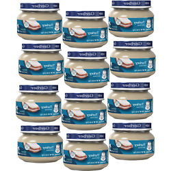 Gerber 2nd Foods Baby Food Jars Turkey and Gravy Non GMO   2.5 Oz   Pack of 12