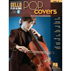 Pop Covers Cello Play Along Vol.5 8 Songs! Book / Audio Access NEW!