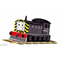 train Thomas wall decal gray red prepasted  border cut out 3.5 inch