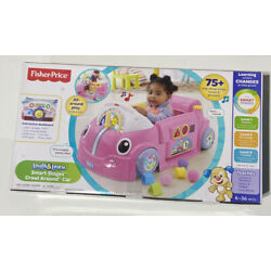 Fisher-Price Laugh And Learn Smart Stages Crawl Around Car 6-36 Months Pink