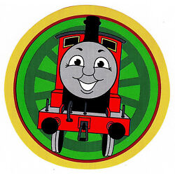 train Thomas wall safe sticker red green circle border cut out 5 to 8 inch