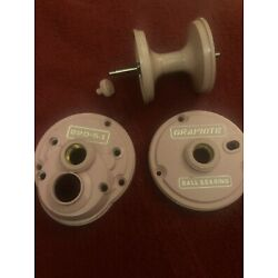 newell Pink  220  Plates And  Matching Pink Spool And Clicker Button