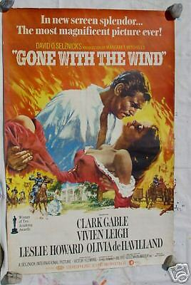 Gone with Wind 38x57 Original Re - Release Movie Poster | eBay