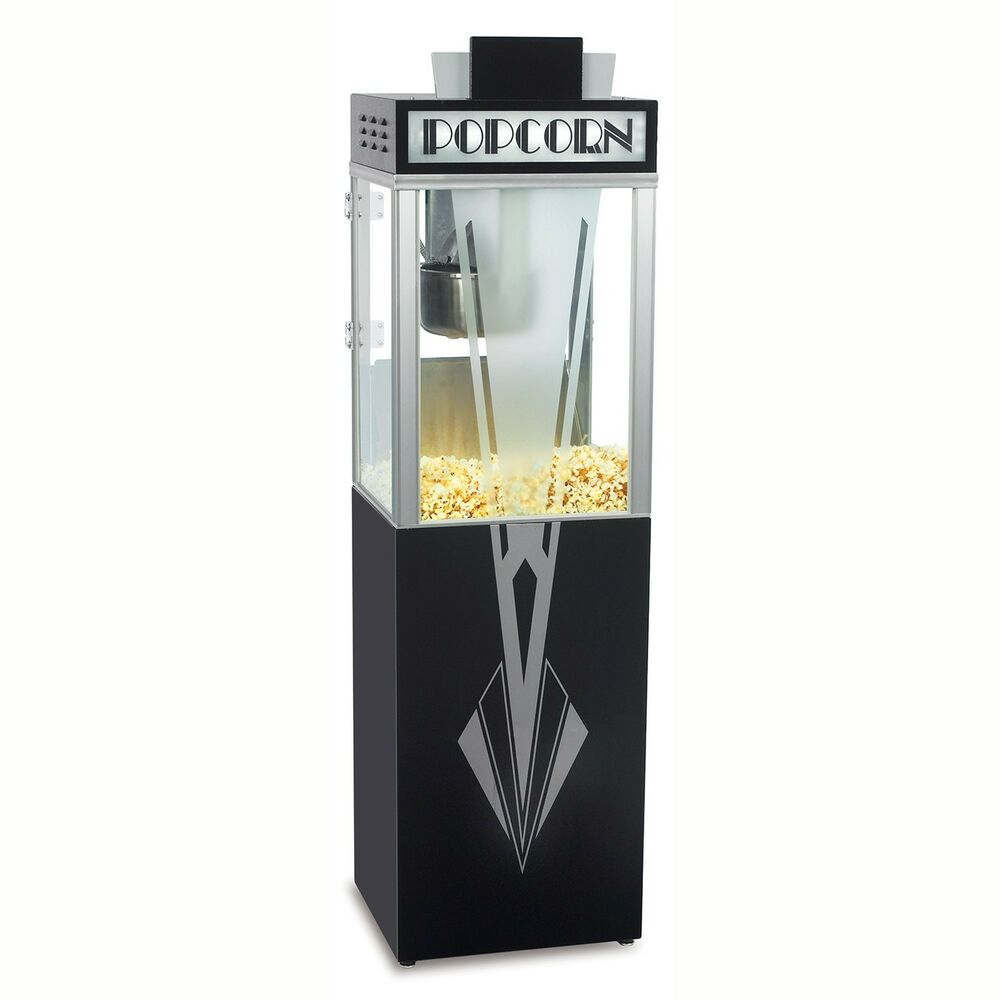 NEW ART DECO 6 oz POPCORN POPPER MACHINE and BASE by GOLD ...