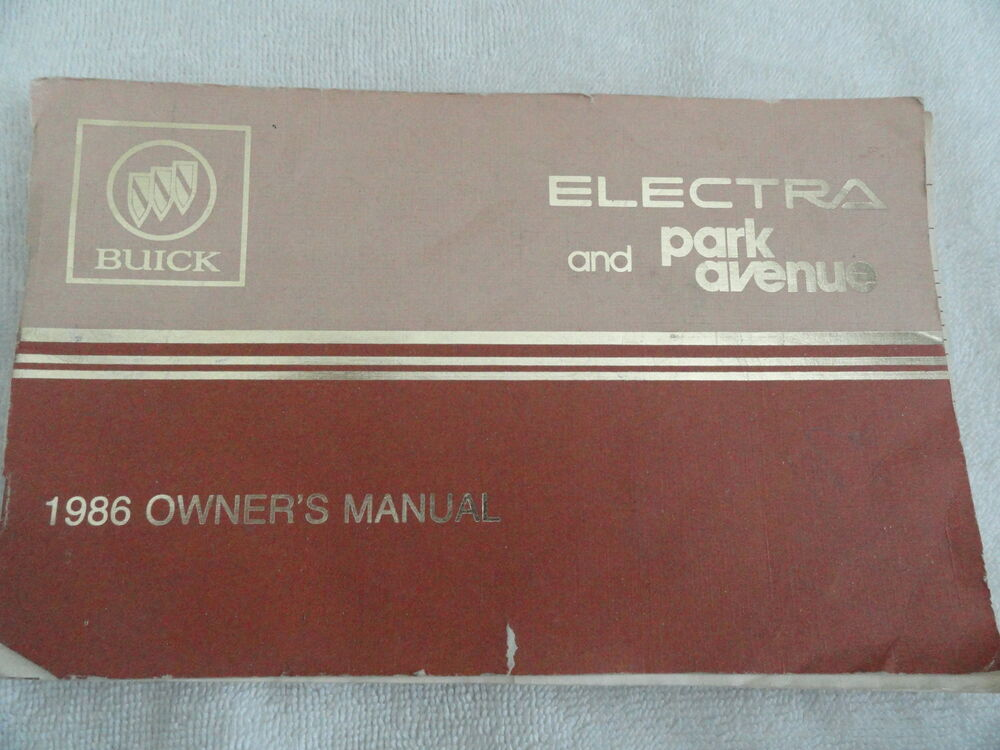 1986 Buick Park Avenue Ave Electra Owners Manual eBay