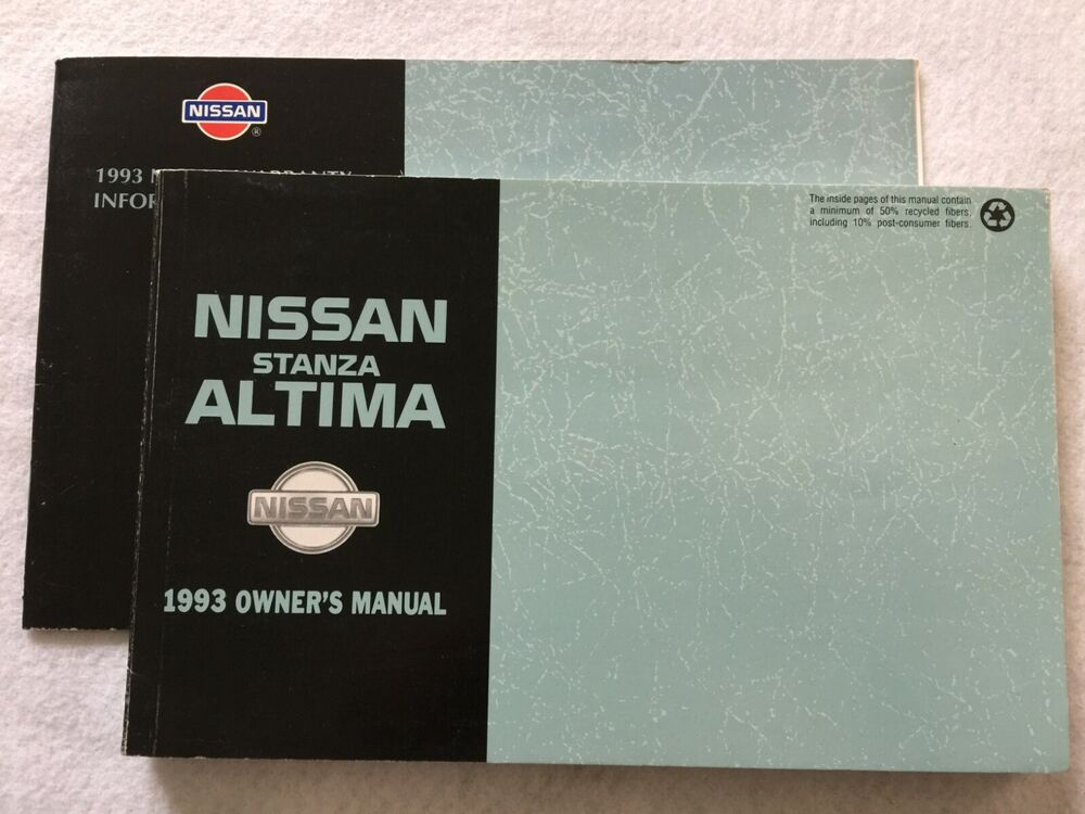 1993    Nissan       Altima    and    Stanza       Owners    Manual   eBay