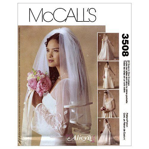 Wedding Veils And Headpieces Patterns: Reduced!! McCall's 3508 Alicyn Exclusives BRIDAL VEILS