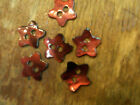 Vintage Usa Buttons 38 Mother Of Pearl Stars 6 Pcs Shell