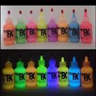 Glow In The Dark Daytime Visible Fabric Paint 8 Color Set Neon Fluorescent