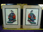 Antique framed 18 19C Chinese water color painting on rice paper