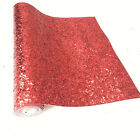 Sparkle Chunky Glitter Bling Sequin Fabric Leather Diy Bag Shoe Bows Craft Sheet