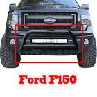 Black Bull Bar Bumper Grille Guard With Skid126w Cree Led Light Bar Wiring Kit