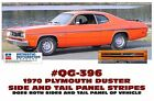 Ge-qg-396 1970 Plymouth Duster - Side Stripe And Tail Panel Stripe Kit