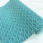 Sparkle Lace Scalloped Chunky Glitter Fabric Vinyl Craft Upholstery Material Lot