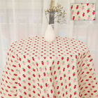 Vintage Retro Printed Floral Cotton Linen Fabric Tablecloth Yard Craft Material