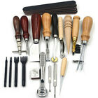 Pro Vintage Leather Craft Working Punching Sewing Kit For Hobby Starter Maker Us