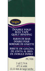 Wrights Double Fold Bias Tape Quilt Binding Pc706