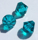 Swarovski Bicone Austrian Crystal Beads Facet Blue Zircon 3mm 4mm 6mm 8mm