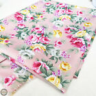 Vintage Rose Floral Prints Fabric Cotton Like Quilting Craft Sewing Fat Quarter