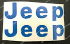 Decals For A Cj Yj Jeep Letters Replacement Fender Vinyl Decal Sticker Wrangler