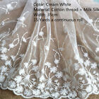 Embroidery Cotton Lace Edge Trim Ribbon Fabric Tulle Mesh Craft Sewing Applique