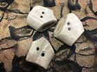 Vintage 1 U.s.a. Buttons 3 Pieces Bone Elk Pralines Ivory 1 To 1.25