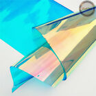37 Clear Holographic Iridescent Pvc Fabric Mirrored Film Vinyl Crafts Bows Bag