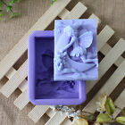 Vintage Silicone Fairy Flowers Soap Mold Cake Decorating Chocolate Fondant Mould