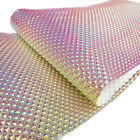 Metallic Iridescent Leather Fabric Holographic Leatherette Faux Crystal Crafts