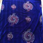 Royal Blue Gorgeous Velvet With Shinning Stones Bridal Lace Fabric