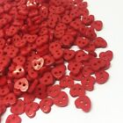 Pkg Of Tiny Heart 2-hole Plastic Buttons 14 6mm Scrapbook Craft 557 Choose