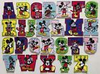 Embroidered Iron On Patch Mice On Alphabet Letter Your Choice Height 2.9 Ap025h