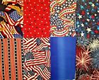 Lot Of 8 Assorted Red White Blue Patriotic Cotton Fabric Fat Quarters 115