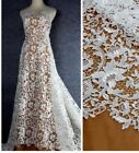 By The Yard Off-white Embroidered Guipure Cord Bridal Lace Fabric