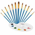12x Artist Pointed Paint Brush Set Watercolor Acrylic Oil Artist Detail Painting