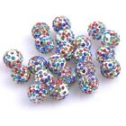 100pcs Lot Czech Crystal 29 Colors Shamballa Beads Pave Clay Round Disco Spacer