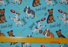 Joann Dogs On Blue Or Dogs On Gray Prints On Flannel 12 Yard Print Choice