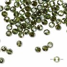 Swarovski Round Austrian Crystal Beads Peridot Bronze Shade 4mm 6mm Green