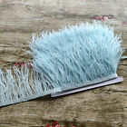 Beautiful 1-10 Yards Ostrich Feathers Ribbon 8-10 Cm Diy Clothing Accessories