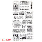 Transparent Silicone Clear Rubber Stamp Cling Diary Scrapbooking Diy Child Craft