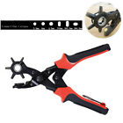 6 Size Leather Hole Punch Heavy Duty Hand Pliers Belt Watch Band Holes Puncher